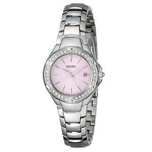 NEW Seiko SXDC53 stainless steel watch swarovski